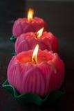 Φως κεριών στο ύφος λουλουδιών Lotus Στοκ φωτογραφία με δικαίωμα ελεύθερης χρήσης
