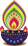 Φως κεριών Diwali Στοκ εικόνες με δικαίωμα ελεύθερης χρήσης