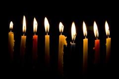 Φως κεριών Hanukkah, καλές διακοπές Στοκ εικόνα με δικαίωμα ελεύθερης χρήσης
