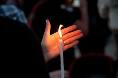 φως κεριών vigil Στοκ φωτογραφίες με δικαίωμα ελεύθερης χρήσης