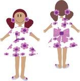 φως κοριτσιών φορεμάτων Στοκ εικόνες με δικαίωμα ελεύθερης χρήσης