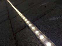 Φως λουρίδων οδηγήσεων που καθορίζεται στην επίστρωση Στοκ φωτογραφία με δικαίωμα ελεύθερης χρήσης