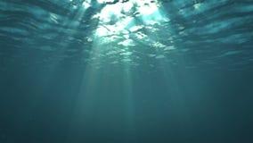 Φως μέσω της επιφάνειας του νερού απόθεμα βίντεο