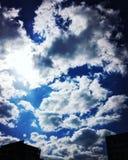 Φως μέσω των σύννεφων Στοκ Φωτογραφίες
