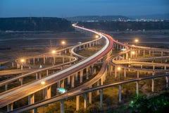 Φως μεταφορών της Ταϊβάν στη ώρα κυκλοφοριακής αιχμής στοκ εικόνες