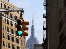 Φως οριζόντων πόλεων της Νέας Υόρκης στοκ φωτογραφία με δικαίωμα ελεύθερης χρήσης