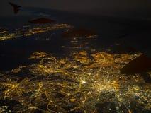 Φως πόλεων του Μάντσεστερ Στοκ εικόνες με δικαίωμα ελεύθερης χρήσης