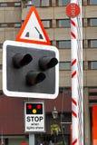 Φως σημαδιών γεφυρών Στοκ εικόνα με δικαίωμα ελεύθερης χρήσης