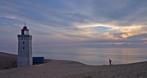 φως σπιτιών rubjerg Στοκ Φωτογραφίες