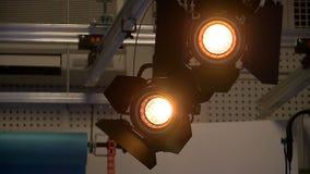 Φως στούντιο στο στούντιο αιθουσών τύπου απόθεμα βίντεο