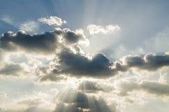 Φως στο μπλε ουρανό Στοκ Εικόνα