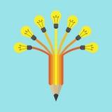 Φως στο χρωματισμένο μολύβι Στοκ Εικόνες