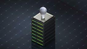 Φως συμβόλων και βολβών βάσεων δεδομένων Κεντρικός υπολογιστής βάσεων δεδομένων διανυσματική απεικόνιση