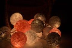 Φως σφαιρών βαμβακιού, ημέρα Χριστουγέννων Στοκ Εικόνες