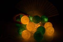 Φως σφαιρών βαμβακιού, ημέρα Χριστουγέννων Στοκ φωτογραφία με δικαίωμα ελεύθερης χρήσης