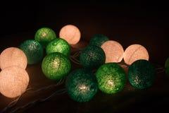 Φως σφαιρών βαμβακιού, Χριστούγεννα Στοκ Εικόνες