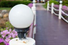 Φως σφαιρών πυράκτωσης κήπων λαμπτήρων Εξωτερικός φωτισμός σπιτιών Outd Στοκ Εικόνες