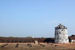 φως της Ινδίας σπιτιών goa οχυρών aguada Στοκ Εικόνα