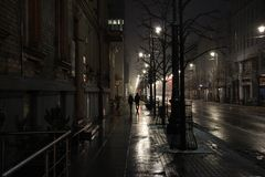 Φως της νύχτας πόλεων Στοκ εικόνα με δικαίωμα ελεύθερης χρήσης