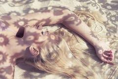 φως του ήλιου δαντελλών Στοκ Φωτογραφίες