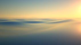 Φως του ήλιου βραδιού πέρα από το νερό Στοκ Εικόνα