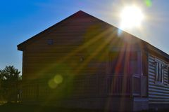 Φως του ήλιου καμπινών Στοκ εικόνα με δικαίωμα ελεύθερης χρήσης
