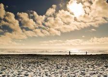 Φως του ήλιου στην παραλία Στοκ Εικόνες