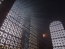 Φως του ήλιου στον καπνό κεριών Στοκ Εικόνες