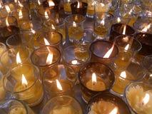 Φως των κεριών στο γυαλί Στοκ Φωτογραφία