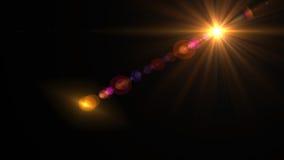 Φως φλογών φακών πέρα από το μαύρο υπόβαθρο Εύκολος να προσθέσει την επικάλυψη Στοκ Εικόνα