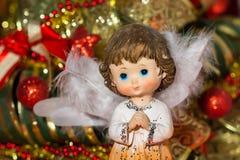 Φως Χριστουγέννων αγγέλου Στοκ Φωτογραφίες