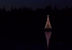 Φως Χριστουγέννων στη χαμένη λιμνοθάλασσα Στοκ φωτογραφία με δικαίωμα ελεύθερης χρήσης