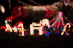 Φως Χριστουγέννων υποβάθρου θαμπάδων Στοκ Εικόνα