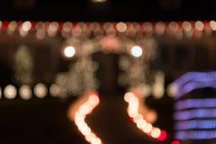 Φως Χριστουγέννων υποβάθρου θαμπάδων Στοκ Εικόνες
