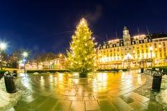 Φως χριστουγεννιάτικων δέντρων Στοκ Εικόνα