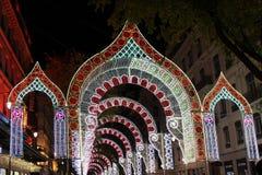 Φως arcades στη rue de la Republique Στοκ Φωτογραφίες