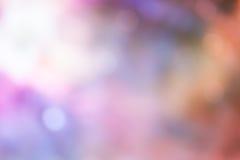 Φως Bokeh στο ρόδινο υπόβαθρο χρώματος κρητιδογραφιών Στοκ Φωτογραφίες