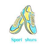Φωτεινά αθλητικά παπούτσια διανυσματική απεικόνιση