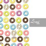 Φωτεινά γλυκά donuts Στοκ Εικόνες