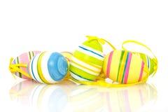 φωτεινά ζωηρόχρωμα αυγά Πάσ&c Στοκ φωτογραφία με δικαίωμα ελεύθερης χρήσης