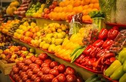 Φωτεινά ζωηρόχρωμα φρούτα και λαχανικά φθινοπώρου Στοκ Εικόνες