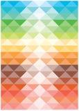 Φωτεινά διανυσματικά τετράγωνα αρμονίας χρώματος Στοκ Εικόνες