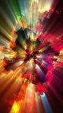 Φωτεινά και λαμπιρίζοντας μόρια, τρισδιάστατη απεικόνιση Στοκ εικόνες με δικαίωμα ελεύθερης χρήσης