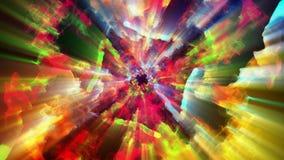 Φωτεινά και λαμπιρίζοντας μόρια, τρισδιάστατη απεικόνιση Στοκ Φωτογραφία