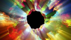 Φωτεινά και λαμπιρίζοντας μόρια, τρισδιάστατη απεικόνιση Στοκ εικόνα με δικαίωμα ελεύθερης χρήσης