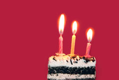 φωτεινά κεριά γενεθλίων Στοκ εικόνα με δικαίωμα ελεύθερης χρήσης