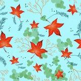 Φωτεινά κόκκινα φύλλα φθινοπώρου Στοκ Εικόνες
