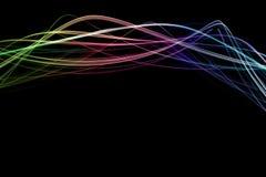 φωτεινά κύματα Στοκ εικόνα με δικαίωμα ελεύθερης χρήσης