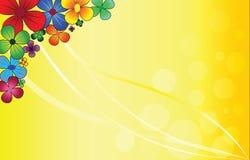 φωτεινά λουλούδια διανυσματική απεικόνιση