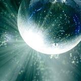 Φωτεινά μπαλώματα του φωτός στη σφαίρα disco βαμμένος στοκ φωτογραφίες με δικαίωμα ελεύθερης χρήσης